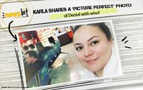 Karla shares a 'PICTURE PERFECT' photo of Daniel with who?