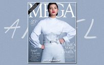 Angel spreads her wings for MEGA cover