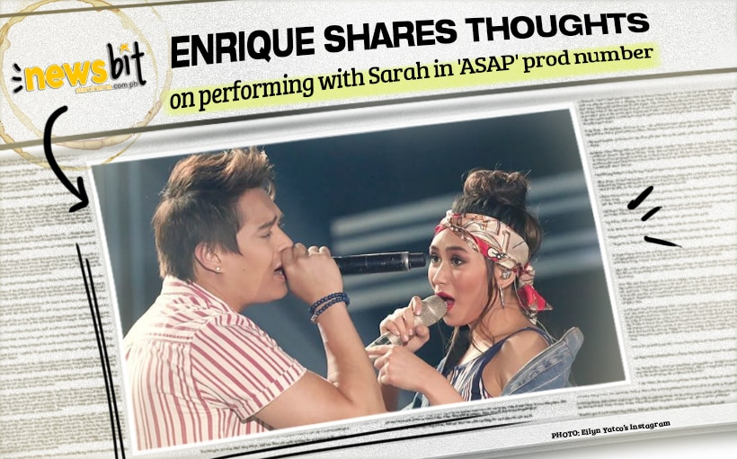 Enrique shares thoughts on performing with Sarah in 'ASAP' prod number
