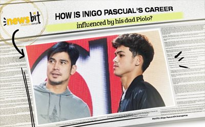 How is Inigo Pascual's career influenced by his dad Piolo?