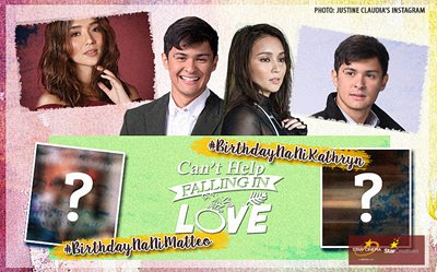 Kathryn, Matteo receive birthday surprise on the set of 'Can't Help Falling In Love'