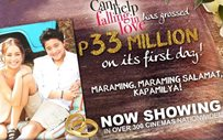 'Can't Help Falling In Love' takes P33 million on opening day!