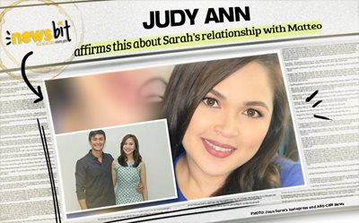 Judy Ann affirms this about Sarah's relationship with Matteo