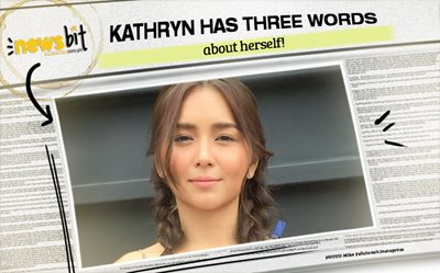 Kathryn has THREE WORDS about herself!