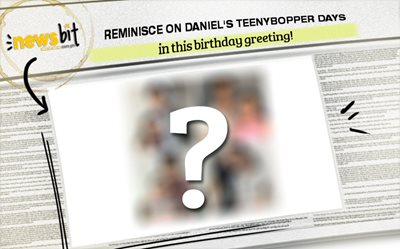 Reminisce on Daniel's teenybopper days in this birthday greeting!