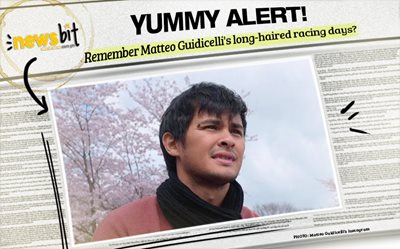 Yummy alert! Remember Matteo Guidicelli's long-haired racing days?