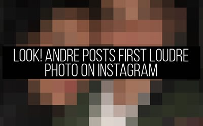 LOOK! Andre posts first LouDre photo on Instagram