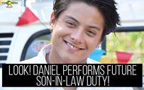 LOOK! Daniel performs future son-in-law duty!