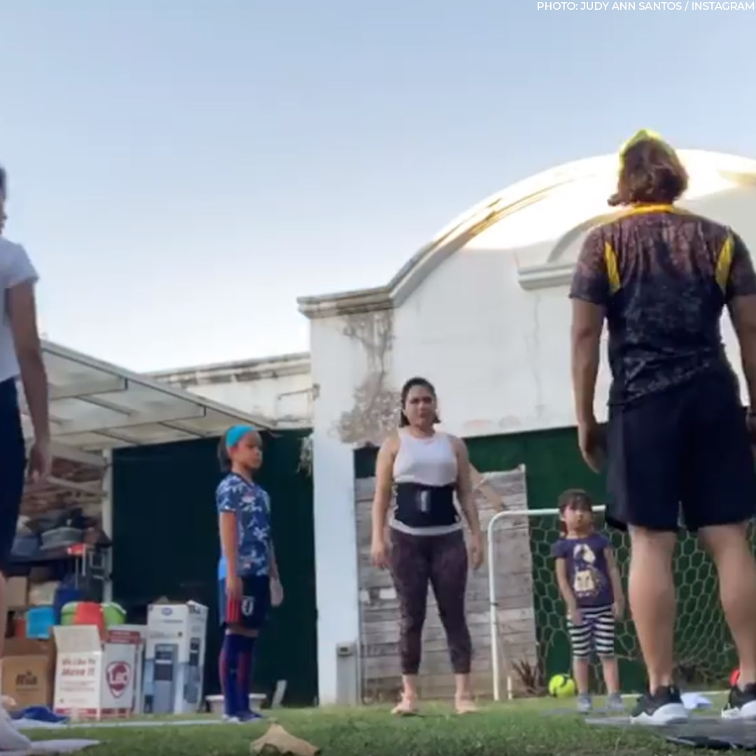 The Agoncillos doing workouts together