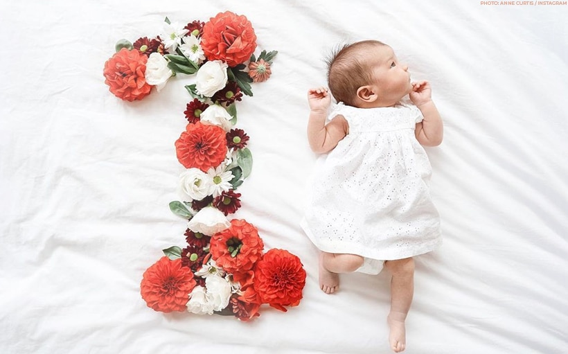 Anne Curtis marks Baby Dahlia's first month with an adorable photoshoot!