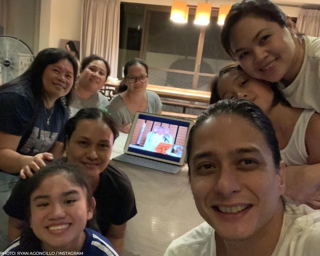 The Agoncillos attended virtual Sunday Mass with Father Caluag