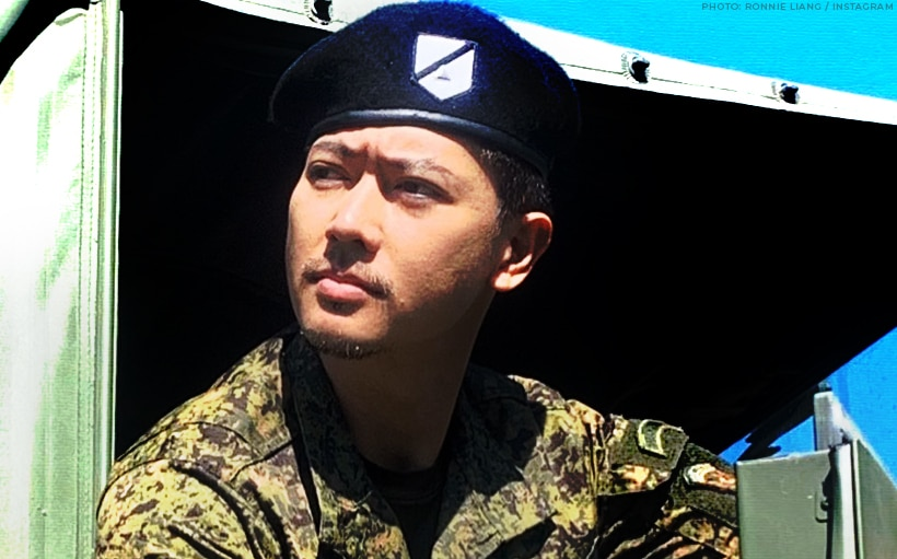 Ronnie Liang fulfills military duty at Metro Manila checkpoints!