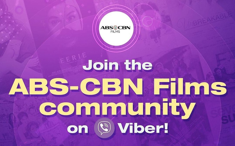 ABS-CBN Films is now on Viber!