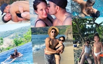 PHOTOS: Ellen, Derek go on a beach getaway with Baby Elias