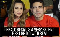Gerald recalls a very recent first he did with Bea!