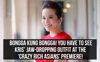 Bongga kung bongga! You have to see Kris' jaw-dropping outfit at the 'Crazy Rich Asians' premiere!