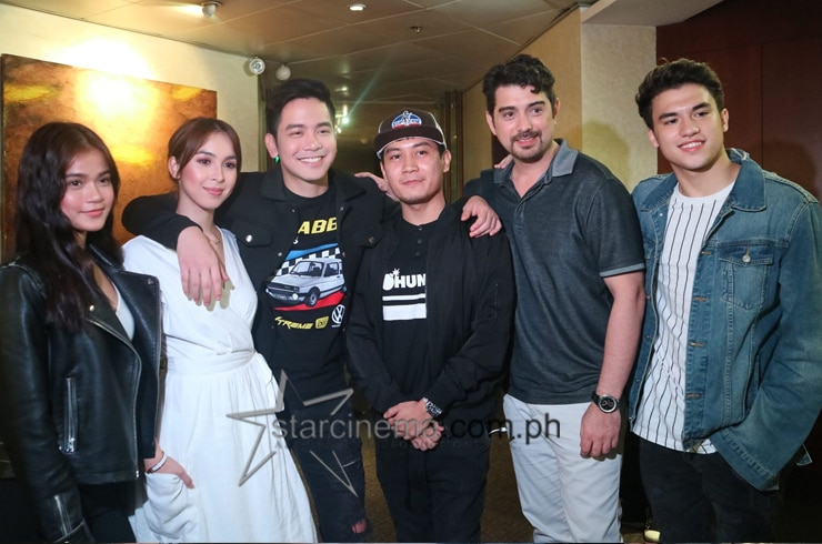 "The cast of ""Block Z"" with director Mikhail Red!"