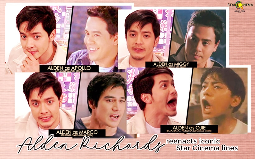 WATCH: Alden Richards, nag-a la John Lloyd Cruz, Piolo Pascual, at Carlo Aquino!