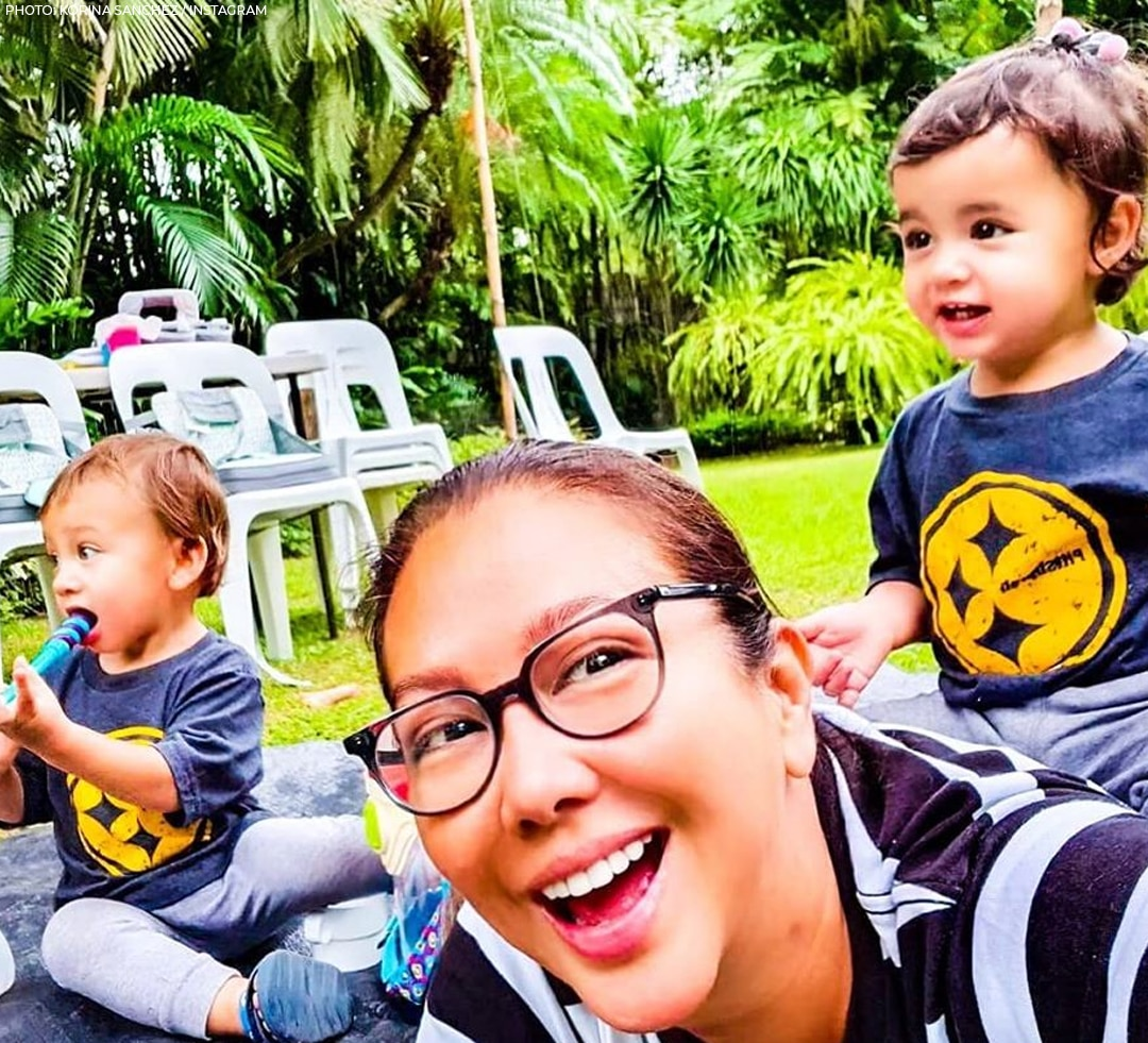 Korina loves spending time with her babies