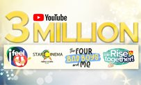 Star Cinema hits 3 million subscribers on Youtube!