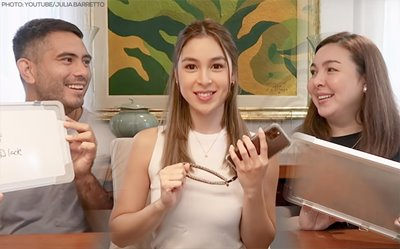 Julia Barretto tests who knows her better between Gerald Anderson and Marjorie Barretto