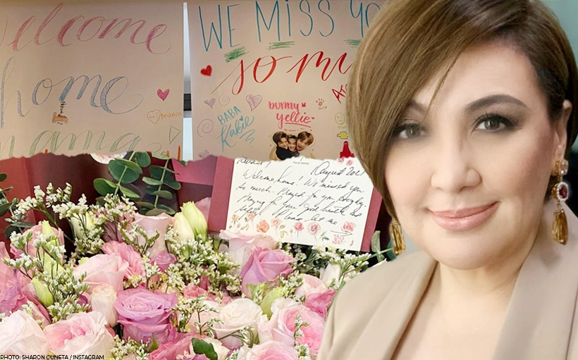Sharon Cuneta returns to Manila, requests for prayers to overcome problem