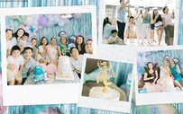 Sam Pinto receives surprise baby shower