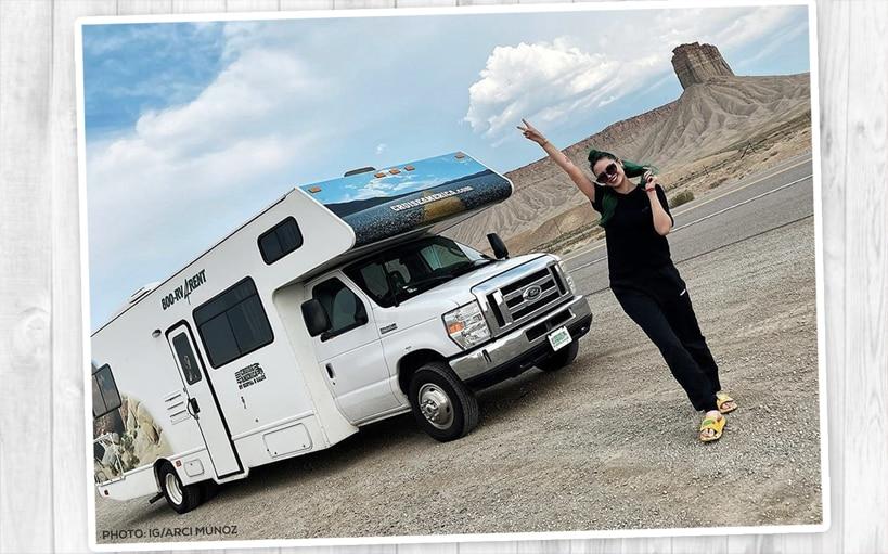 WATCH: Arci Muñoz drives RV on 11-hour road trip