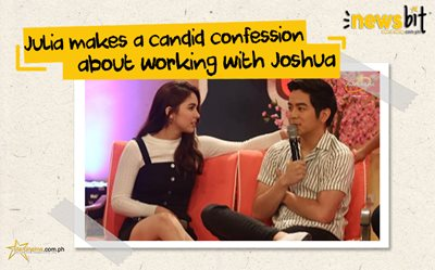 Julia makes a candid confession about working with Joshua