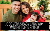 JC de Vera's baby Lana won winter time in Korea!