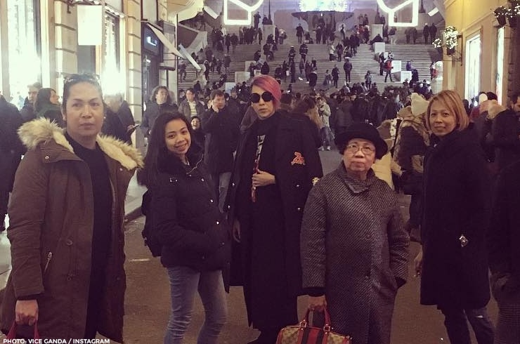 The Viceral family in Vatican City