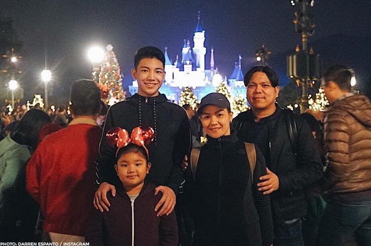 Darren Espanto and his family celebrated the season in Hong Kong Disneyland