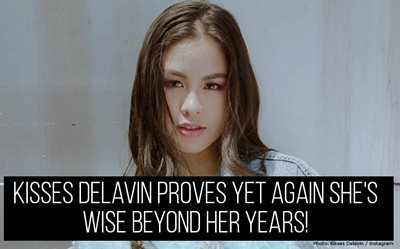 Kisses Delavin proves yet again she's wise beyond her years!