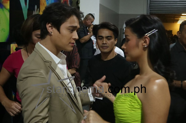 LizQuen practicing for their dance number