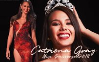 Miss Universe 2018 Catriona Gray 'wears' Mt. Mayon!