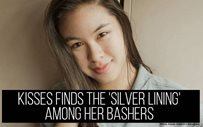 Kisses finds the 'silver lining' among her bashers