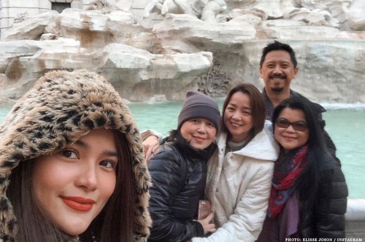Elisse Joson with family in Rome