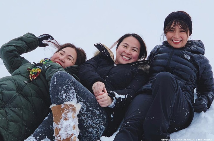 Kathryn Bernardo with her family in Japan