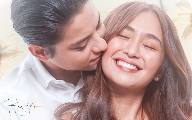 Kathryn gives Daniel a kiss on the cheek during 'Hinahanap-hanap Kita' performance