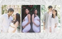 IN PHOTOS: Anne Curtis + Solenn Heussaff hold joint maternity Christmas 'shoot'!