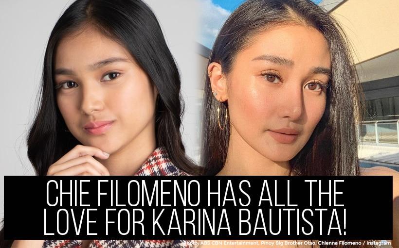 Chie Filomeno has all the love for Karina Bautista!