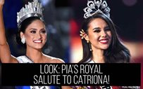 LOOK: Pia's royal salute to Catriona!