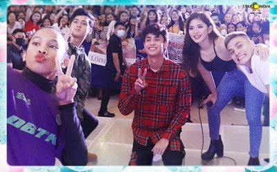 PHOTOS: 'James and Pat and Dave' cast, nagpasaya sa SM Valenzuela!