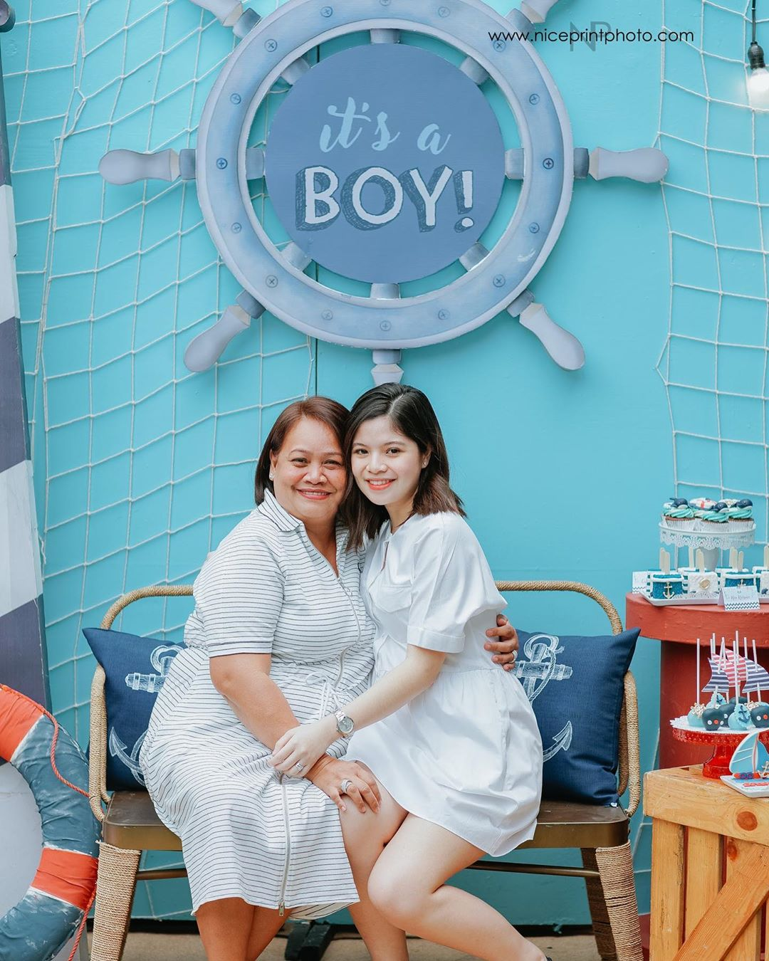 James and Thalia's nautical-themed baby shower