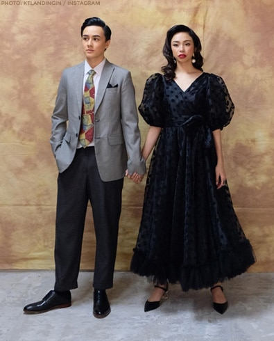 Maymay and Edward reimagined as Old Hollywood stars