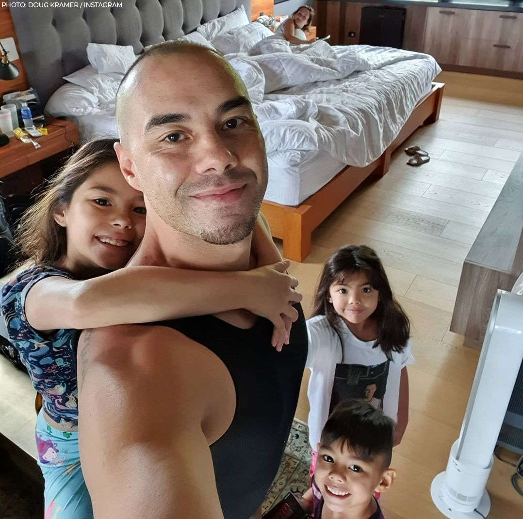 Doug Kramer and daughters Scarlet and Kendra