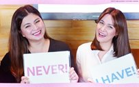 Drunk texting? Pleasing an ex? Bea, Angel get real with 'Never Have I Ever' game