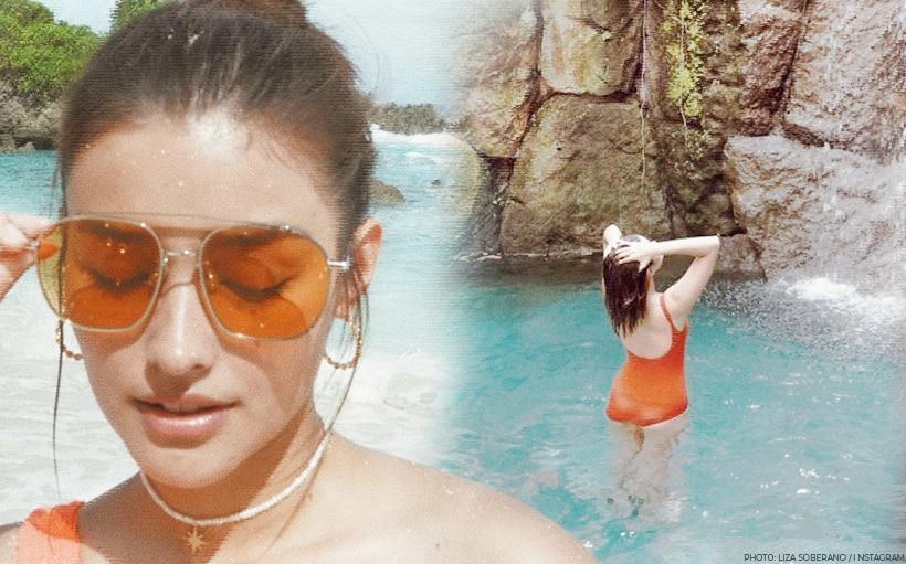 Liza Soberano flaunts bikini body in orange swimsuit!