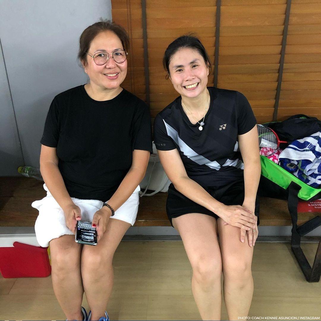 Joshua with KathNiel during their badminton game