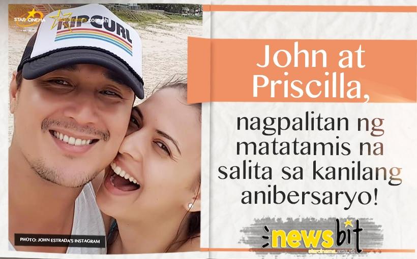 John at Priscilla, nagpalitan ng matatamis na salita sa kanilang anibersaryo!
